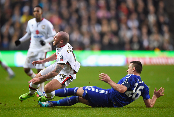 john terry,jogador,samir carruthers,mk dons,equipa,chelsea,fa cup 15/16,fa cup